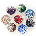 Pave crystal jewelpops fits for kameleon bracelets,necklace,ring,925 silver plating,8 color assorted color jewelpops