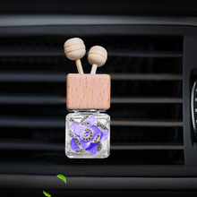 car air freshener perfume for conditioner outlet auto Perfume clip Camellia bottle hanging diffuser in