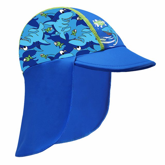 Newest Navy Shark Pattern Sun Hats Children s Beach Caps Kids Flodable Caps  with Wide Birm Anti 9eb421bd48e