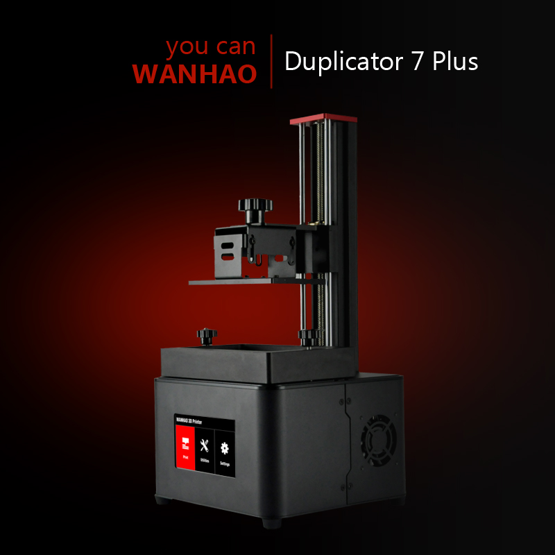2018 New D7 PLUS Wanhao UV resin 3D Printer SLA DLP 3D Printer for sale 250ml Resin gift D7V1.5 3d printer d7 v1 4 from wanhao factory lcd sla dlp printer for dentist and jewelry wifi box