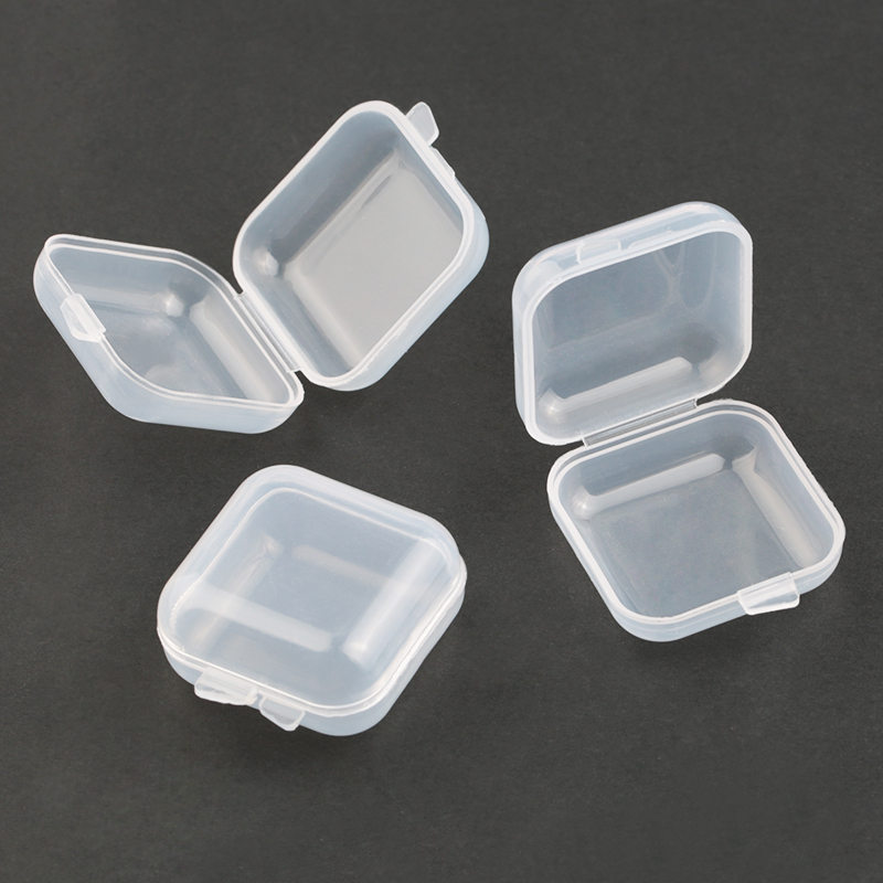 2019 NEW 3.5*3.5*2cm Small Plastic Storage Box For Jewelry Beads Earring Jewelry Container Transparent Square Box Case Container
