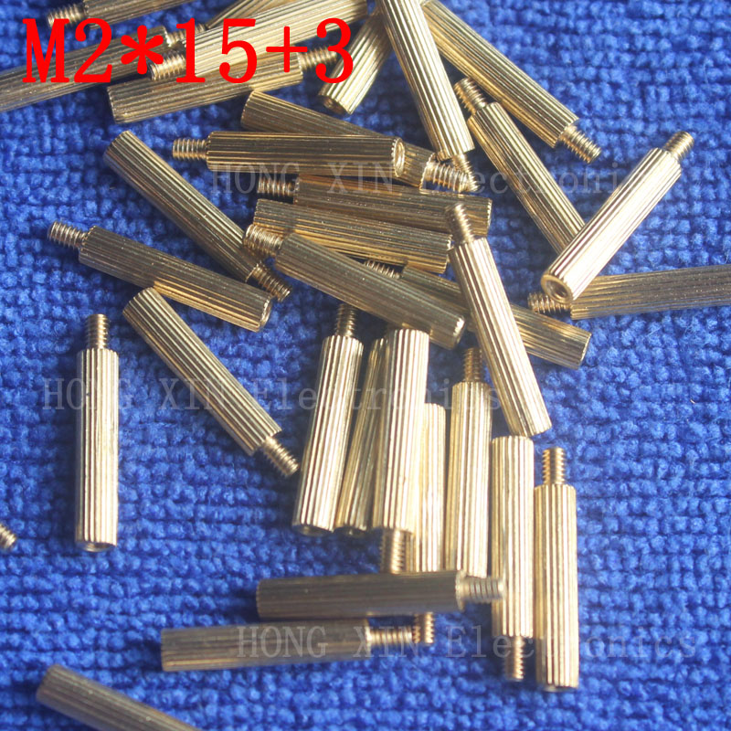 M2*15+3 1Pcs brass Standoff 15mm Spacer Standard Male-Female brass standoffs Metric Thread Column High Quality 1 piece sale m2 4 3 1pcs brass standoff 4mm spacer standard male female brass standoffs metric thread column high quality 1 piece sale