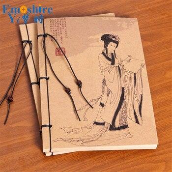 Antik çin Kadın çin Chic Chinoiserie Toptan Boş Kraft Kağıt Boyama