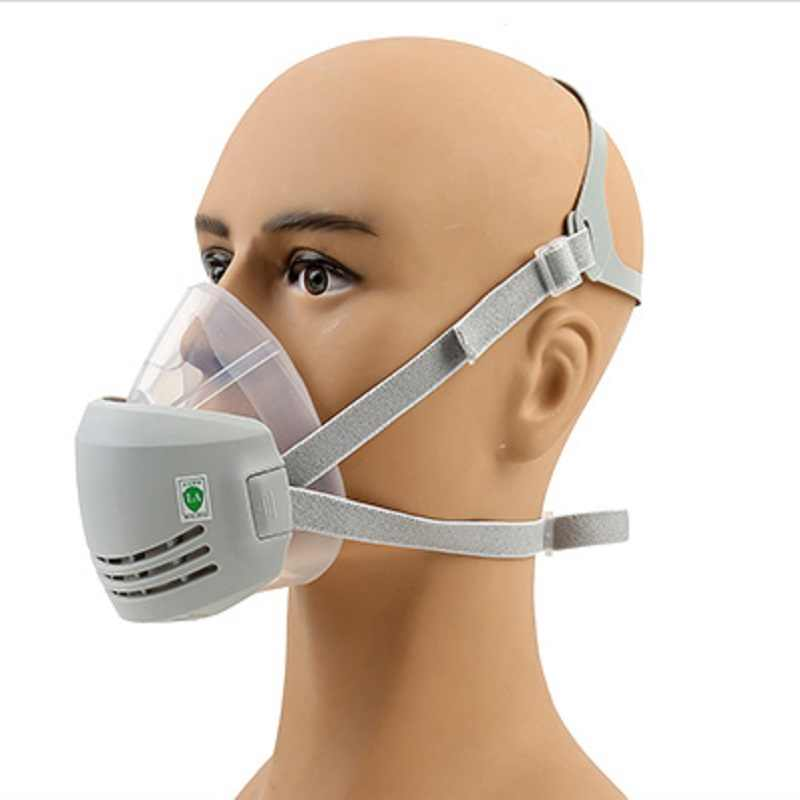Anti-particle Effective Mask Anti-fog Respirator Breathable Adsorption Valve Silica Washable Industrial Dust Breathing Gel