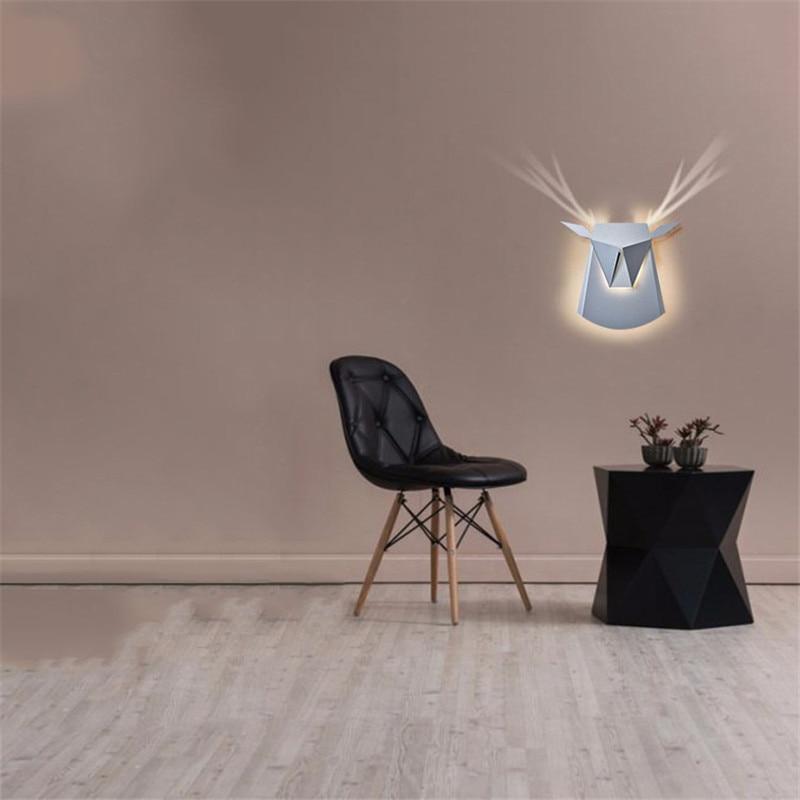 GYLBAB 6W cow ox head deer LED Iron arts wash wall light night project Square shot angle bedroom wall lamp hotel 220v COB mood