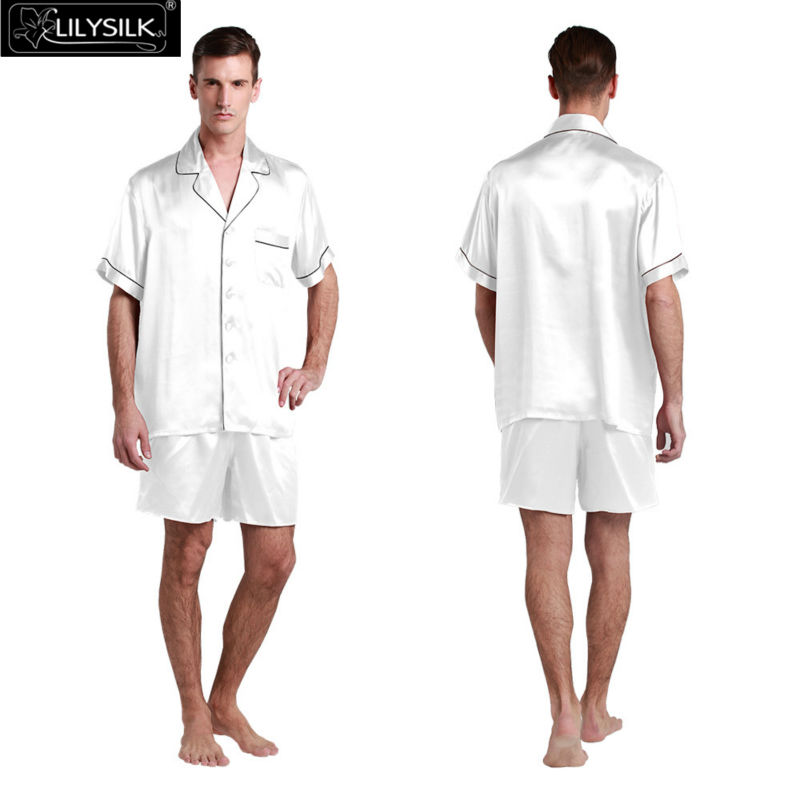 1000-white-22-momme-contrast-trim-short-silk-pyjamas-set