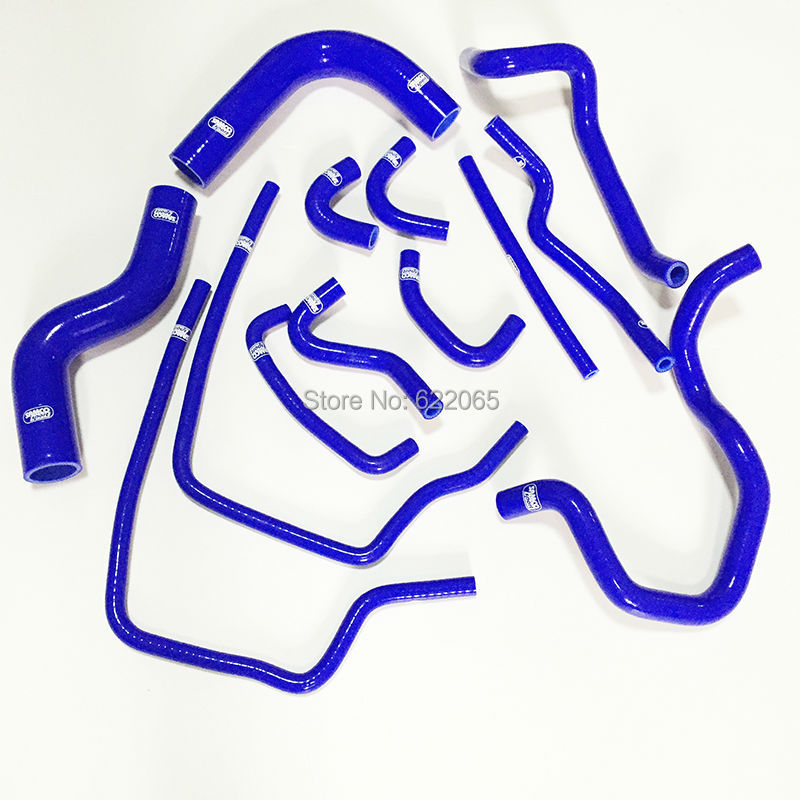 Performace Radiator silicone hose kit For  Subaru  Impreza GC8 EJ20 WRX STi GT Vers 5~6 1998-1999Year 13pcs,Blue  hosingtech for subaru impreza wrx grb ej25 07 ver 10 silicone turbo kit