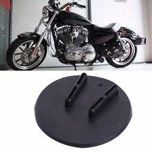 Универсальный Мотоциклов Подставку Нескользящей Kick Стенд Открытый Сторона Стенд Поддержка Пластины Пусковая Площадка Ноги Скольжения Для Harley Honda C/1