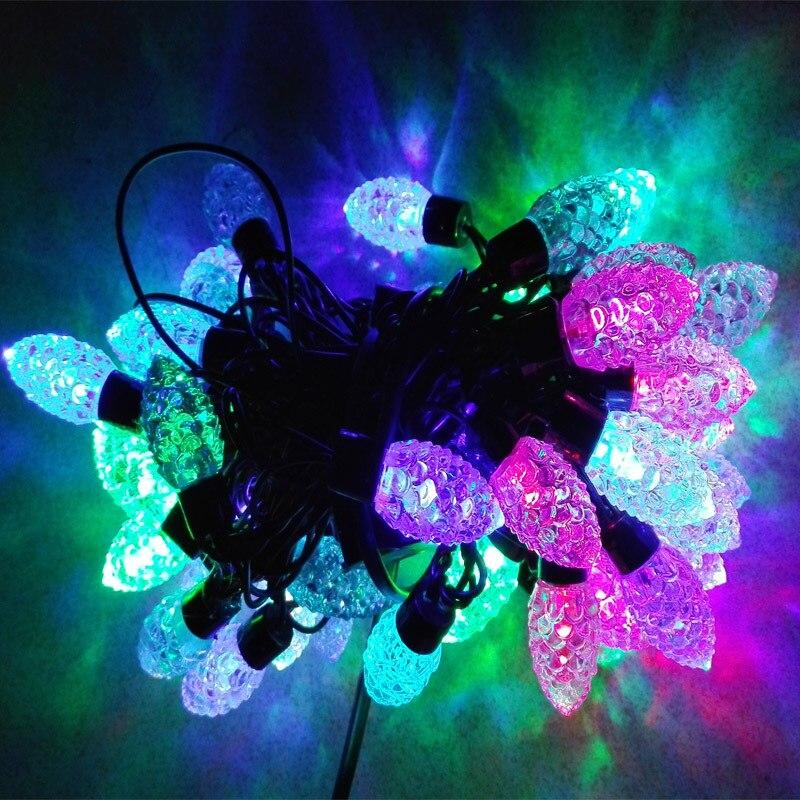 m de pino en forma de cono led luces de cadena color al