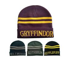 Harri Stripes Knit Hat Cap Cosplay Costume Halloween Christmas Gift Slytherin/Gryffindor/Ravenclaw/Hufflepuff Potter Hats