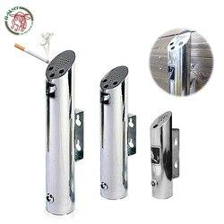 OSKYER 2L Outdoor Aschenbecher Zylinder Wand Montiert Aschenbecher Edelstahl 18-8 Zigarette Asche Bin Abschließbar