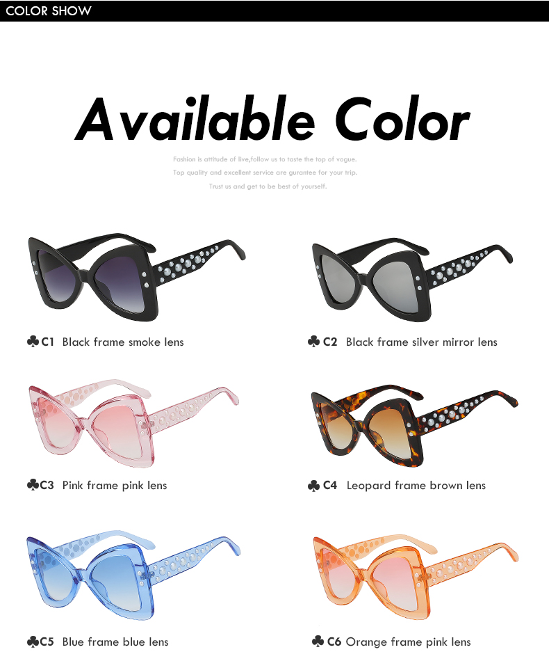 Pearl Butterfly Sunglasses