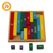 Montessori Teaching Aids Wooden Toy Kids Color Decimal Bar Baby Number Rods
