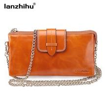 цены на Hot sell Leisure bag Oil wax cowhide women leather handbags Chain Shoulder Bag women messenger bag fashion day clutches wallets  в интернет-магазинах