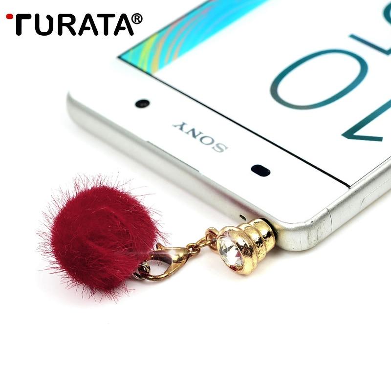 TURATA Cute Hair Bulb Anti Dust Plug For Phone Accessories E