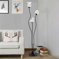 Modern minimalist white black floor light living room corner bedroom floor lamps art lighting package floor lamps ZA1115053