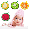 Baby Hand Towel baby bath towels Toddler Soft Plush Cartoon Fruit Hanging Bathing Towel For Children Bathroom 2016