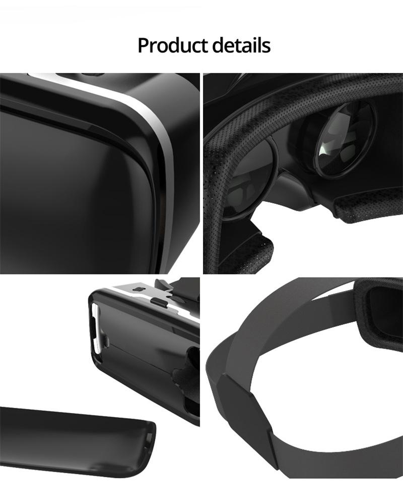 Original VR shinecon 6.0 headset version virtual reality glasses 3D glasses headset helmets smart phones Full package+GamePad 25