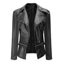 1PC Fashion Vintage Women Biker Motorcycle Leather Zipper Jacket Coat