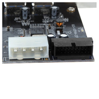 YOC 5* SuperSpeed 2 Port USB 3.0 PCI E PCI Express 19 pin USB3.0 4 pin IDE Connector Low Profile
