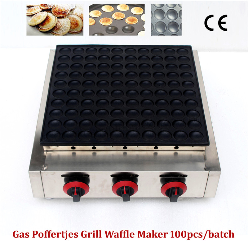 100 pièces Crêpes Gril Gaz Poffertjes Mini Pancake Hollandais Machine pour Restaurants Salles À Manger Café Snack-Bar