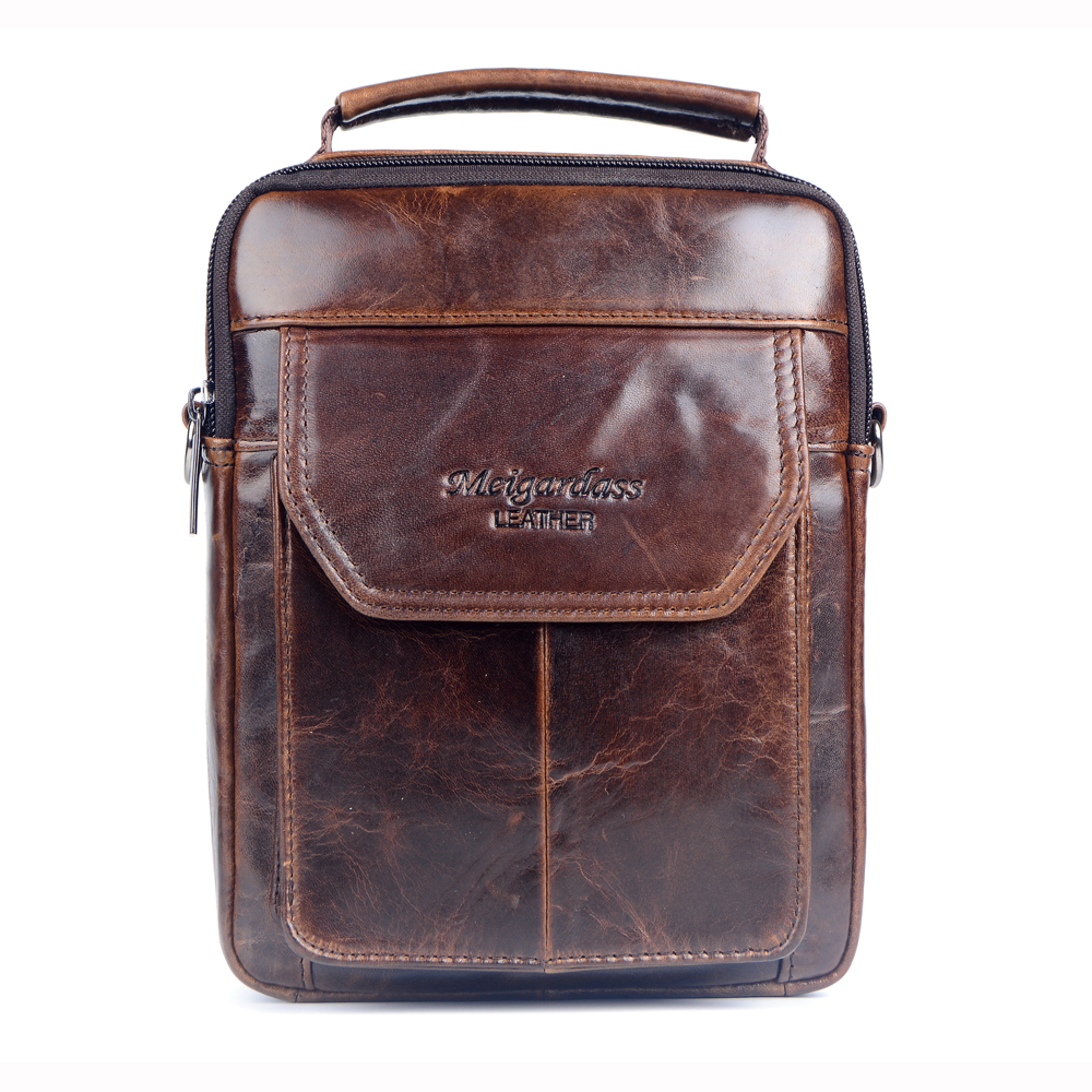 купить 2017 New Style Genuine leather handbags men High quality the First Layer cow skin messenger bags Fashion Casual shoulder bags недорого