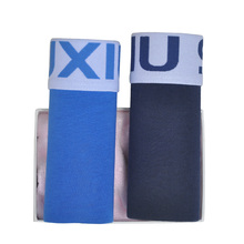 DEWVKV 2Pcs/lot Brand Mens Underwear Cotton Man Big Short Colorful Breathable Solid Flexible Shorts Boxer Pure Color Underpants