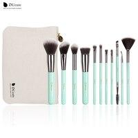 DUcare Makeup Brushes 11PCS Professional Brushes Light Green Brush Set High Quality Brush With Bag Portable