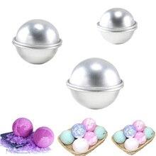 6 шт. круглый алюминиевый сплав формы бомбы для ванны DIY инструмент Бомба для ванны соляной шар домашний крафт подарки полукруг Сфера металлическая форма