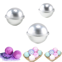 Moldes redondos de bomba de liga de alumínio, 6 peças, diy, para banho, bomba de sal, artesanato, presentes, semicírculo, esfera de metal molde do molde
