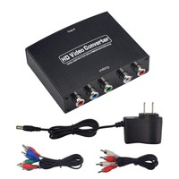 Ypbpr component to HDMI HDTV video audio converter adapter with power supply