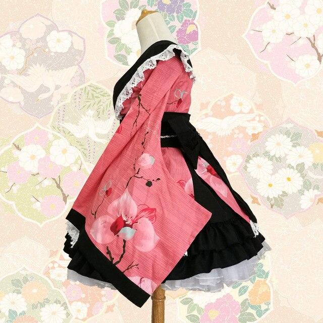 SEEDRULIA  Anime Cosplay Lolita Halloween Fancy Dress Japanese Kimono Lovely Cos Dress 3