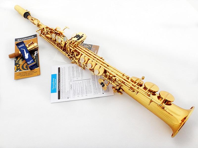 Nouveau Yanagisawa Soprano Saxophone S992 B aplatir Instruments de musique électrophorèse or Sax Soprano professionnel gratuit