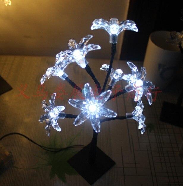 9pig 26 Cm Höhe 8 Stücke Leds Home Dekoration Nachtlicht Nacht Blume Lampe Balkon Terrasse Weiß Licht Weihnachten Party Garten Duftendes (In) Aroma