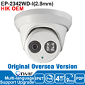 Hik IP Camera 4MP OEM DS-2CD2342WD-I 4MP IP Camera Poe CCTV Outdoor Camera English Version Surveillance Dome Camera Night Vision