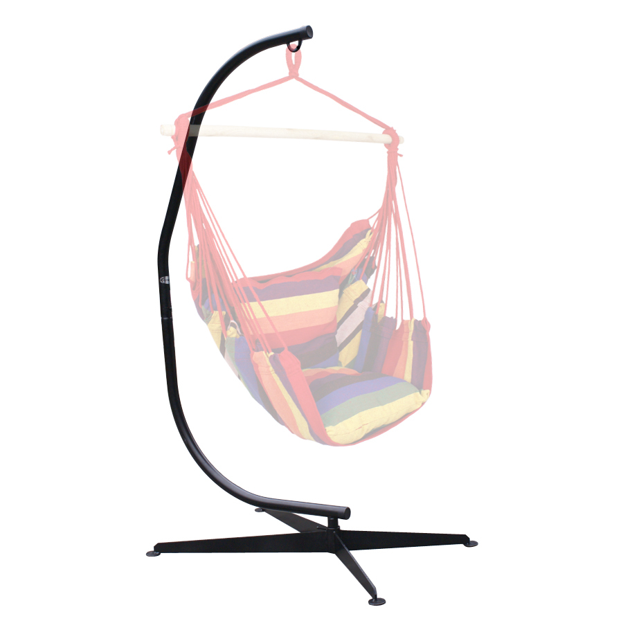 C Style Patio Hanging Hammock Chair Frame Stand Set Solid Steel ...