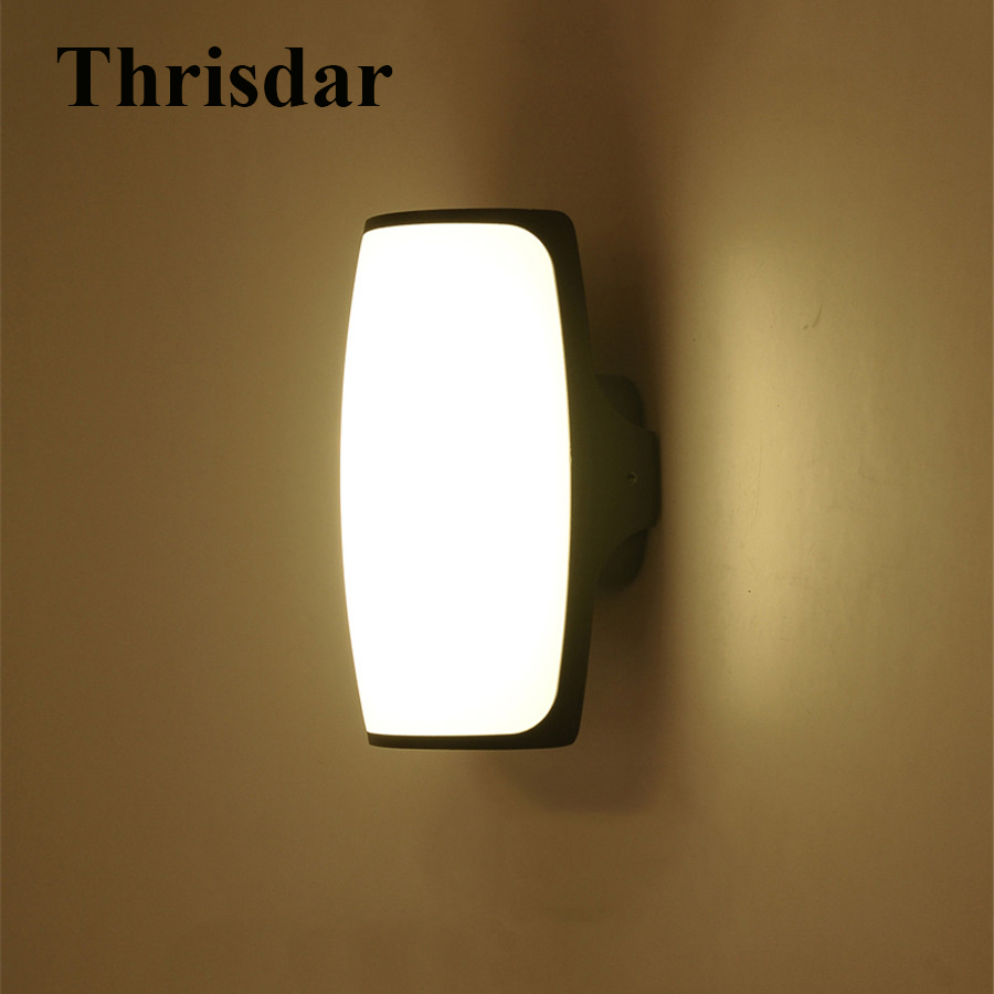 Thrisdar 9W Outdoor Wall Lamp Exterior European Simple Waterproof balcony home garden Patio Fence Villa Porch Wall Sconce Light exterior wall sconce garden fence outdoor lighting garden lamp waterproof outdoor light fixtures backyard lights balcony lamps