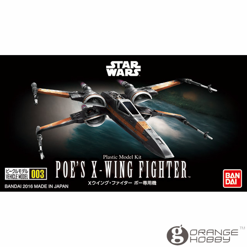 OHS Bandai Star War Vehicle Model 003 Poe's X-Wing Fighter Assembly Plastic Model Kits Oh
