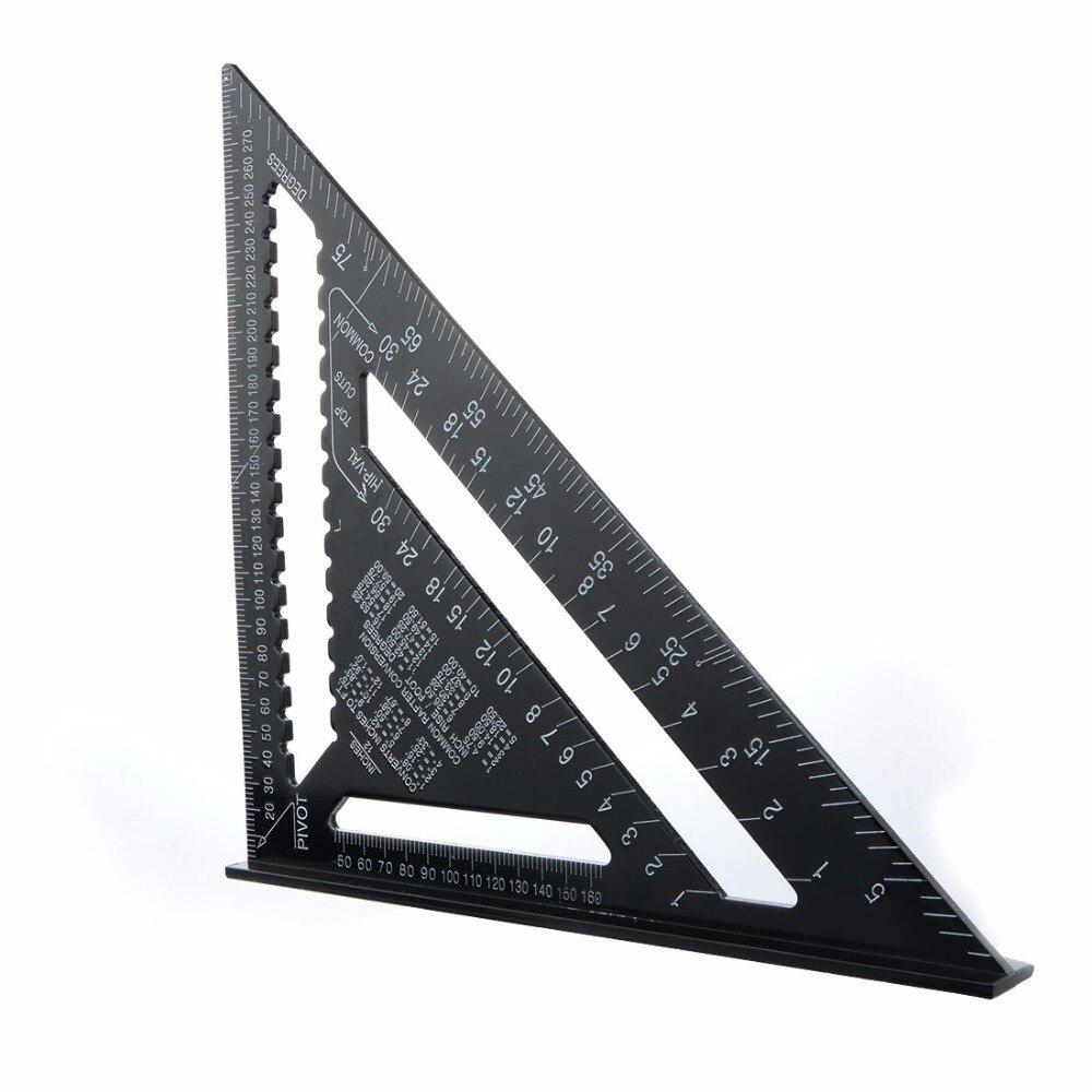 12 inch high precision aluminum alloy black triangle ruler 30 cm triangular plate Trigonometric ruler Carpentry. Renovation rule