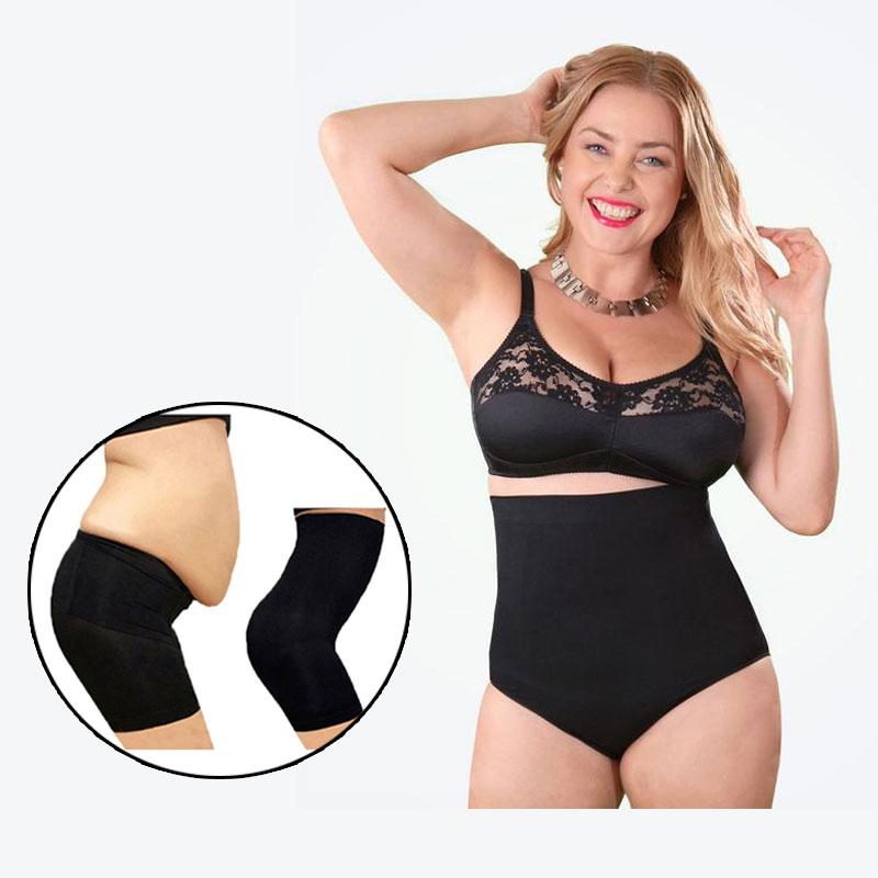 Women Plus Size 100/kg Seamless Panties High Waist Slimming Tummy Control Briefs Shapewear Body Shaper Short Pants Female Corset