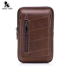2018 Genuine Leather Waist Packs Fanny Pack Small Waist Bag Belt Bag Men Phone Pouch Bags Leather Travel Waist Pack Male Pouches real leather cowhide retro men design casual daily use small waist belt bag hook pack fashion 5 phone case waist pouch 6185
