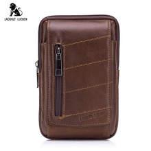 лучшая цена 2018 Genuine Leather Waist Packs Fanny Pack Small Waist Bag Belt Bag Men Phone Pouch Bags Leather Travel Waist Pack Male Pouches