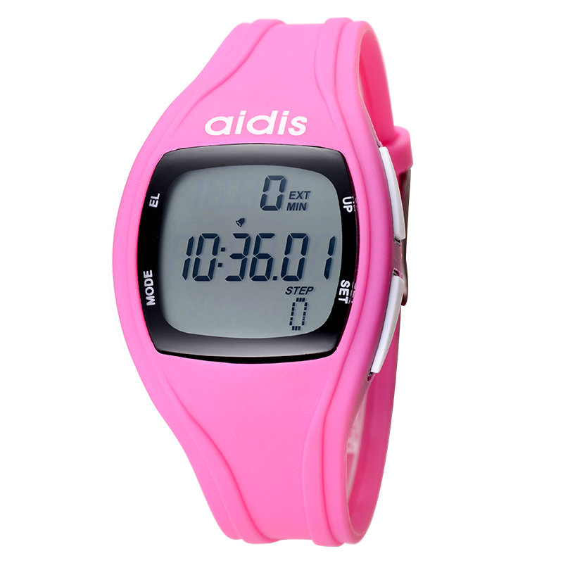 ФОТО Business men and women sports students electronic luminous clock gauge seconds water-resistant step meter running watch