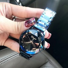 lady Crystal Watch Women Dress Watch Fashion Rose Gold Quartz Watches Female Stainless Steel Wristwatches