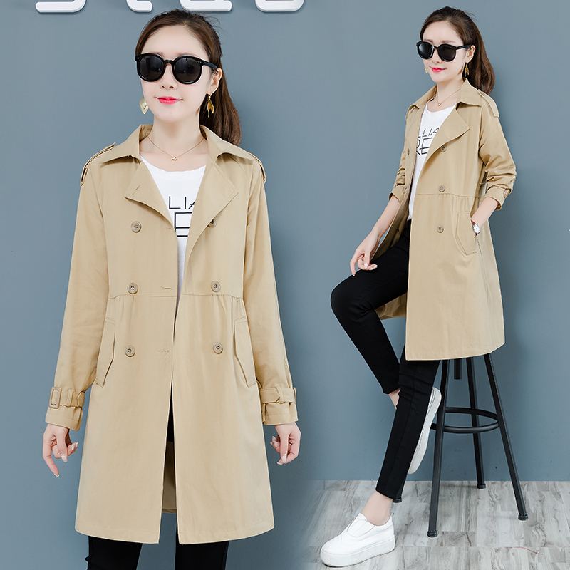 Korean   Trench   Coat For Women Long Coat Spring Autumn New Plus size Loose Casual Women Windbreaker Mujer Casaco Feminino Overcoat