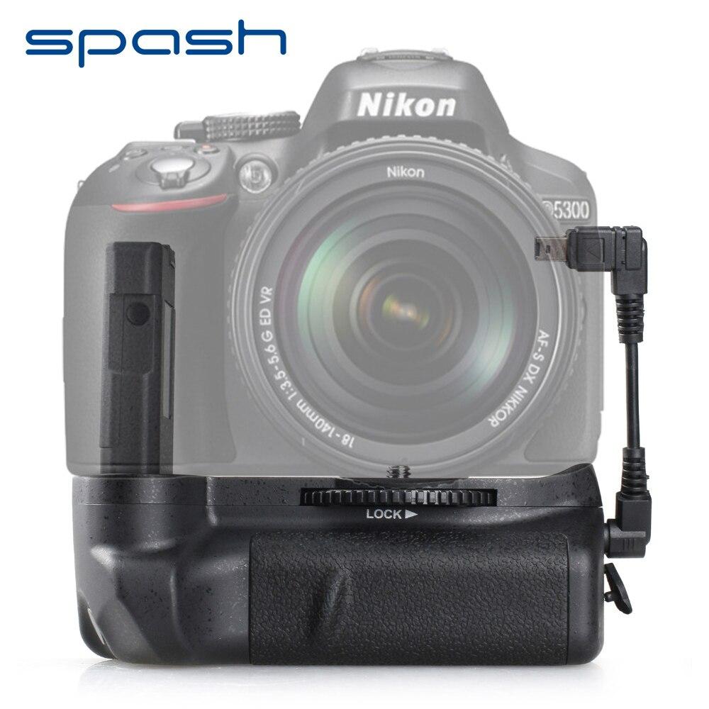 Spash Multi-Poder Aperto Da Bateria Vertical para o Nikon D5300 D5200 D5100 DSLR Camera Substituir MB-D51 Battery Titular Trabalhar com EN-EL14