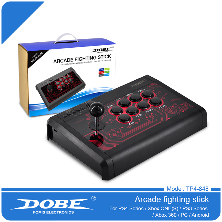 все цены на DOBE New Arcade Fightstick Joystick For PS4 PS3 XBOX ONE Android