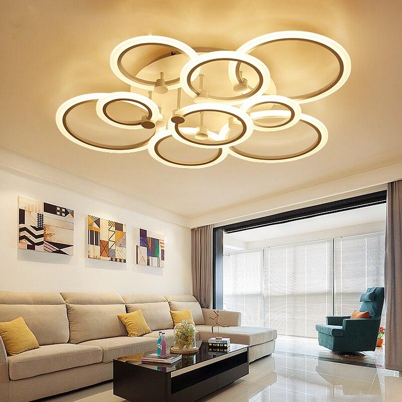 купить Surface Mount LED Ceiling Light Flower Ring for Living Room Luminaria LED Bedroom Lighting Fixture for Home DEC Ceiling Light недорого