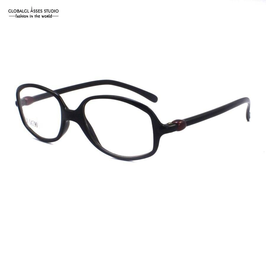 Super Cahaya Lensa Plastik Kecil Bentuk Bulat Besar Kacamata Titanium Kacamata  Wanita Jewel Engsel Temple Lady e84b75183d