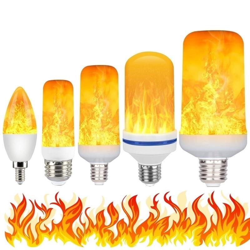 New 3W 5W 9W E27 E14 E26 E27 Flame Bulb 85-265V LED Flame Effect Fire Light Bulbs Flickering Emulation Decor LED Lamp